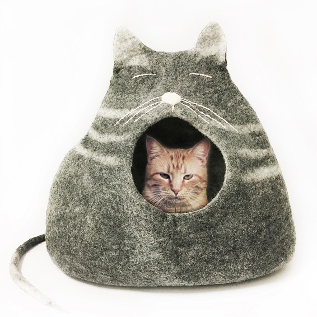 Kattehule håndlavet i 100% ren uld