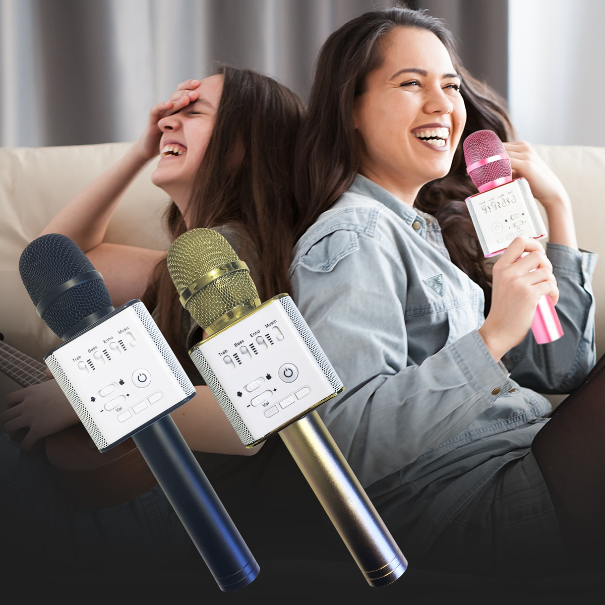 Karaoke Mikrofon Bluetooth med Højttaler