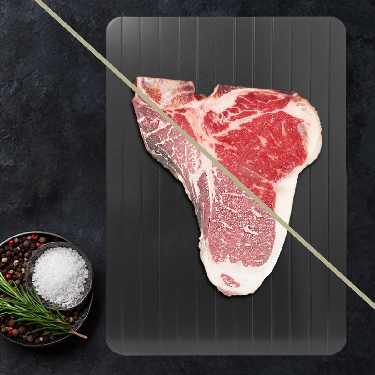 Mirakel optøningsplade til kød, fisk og andre madvarer