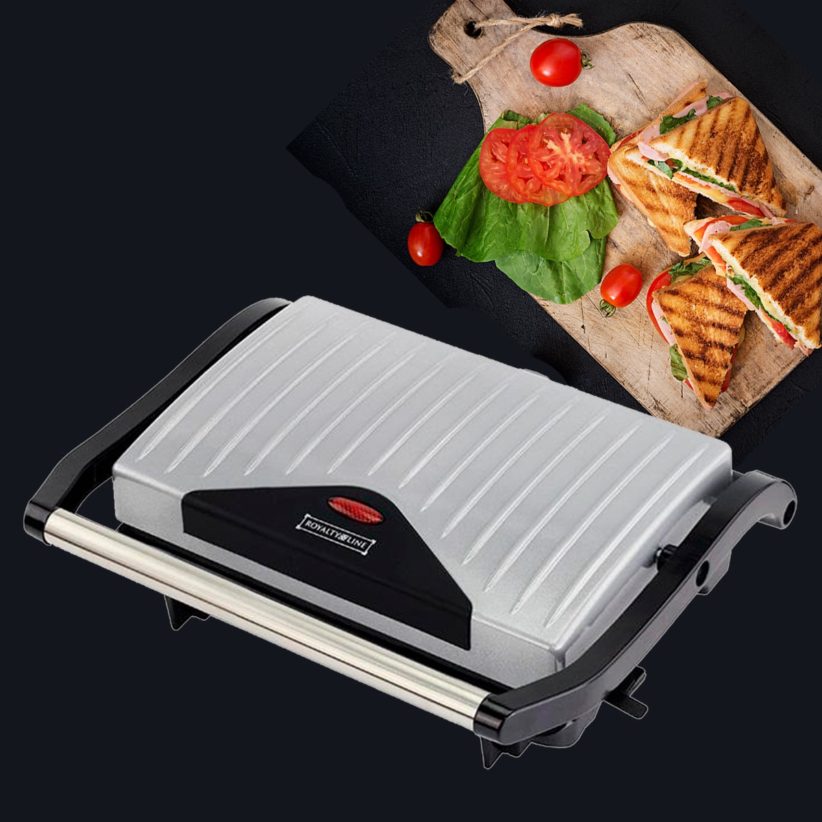 Panini grill/toaster fra Royalty Line
