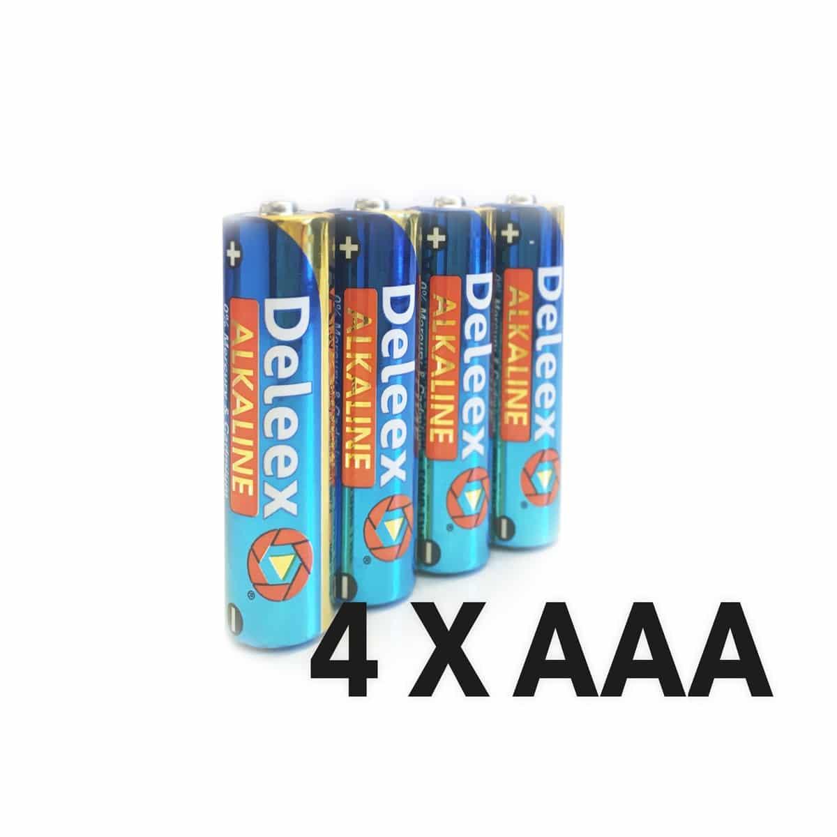 AAA Alkaline Batterier 4 stk.