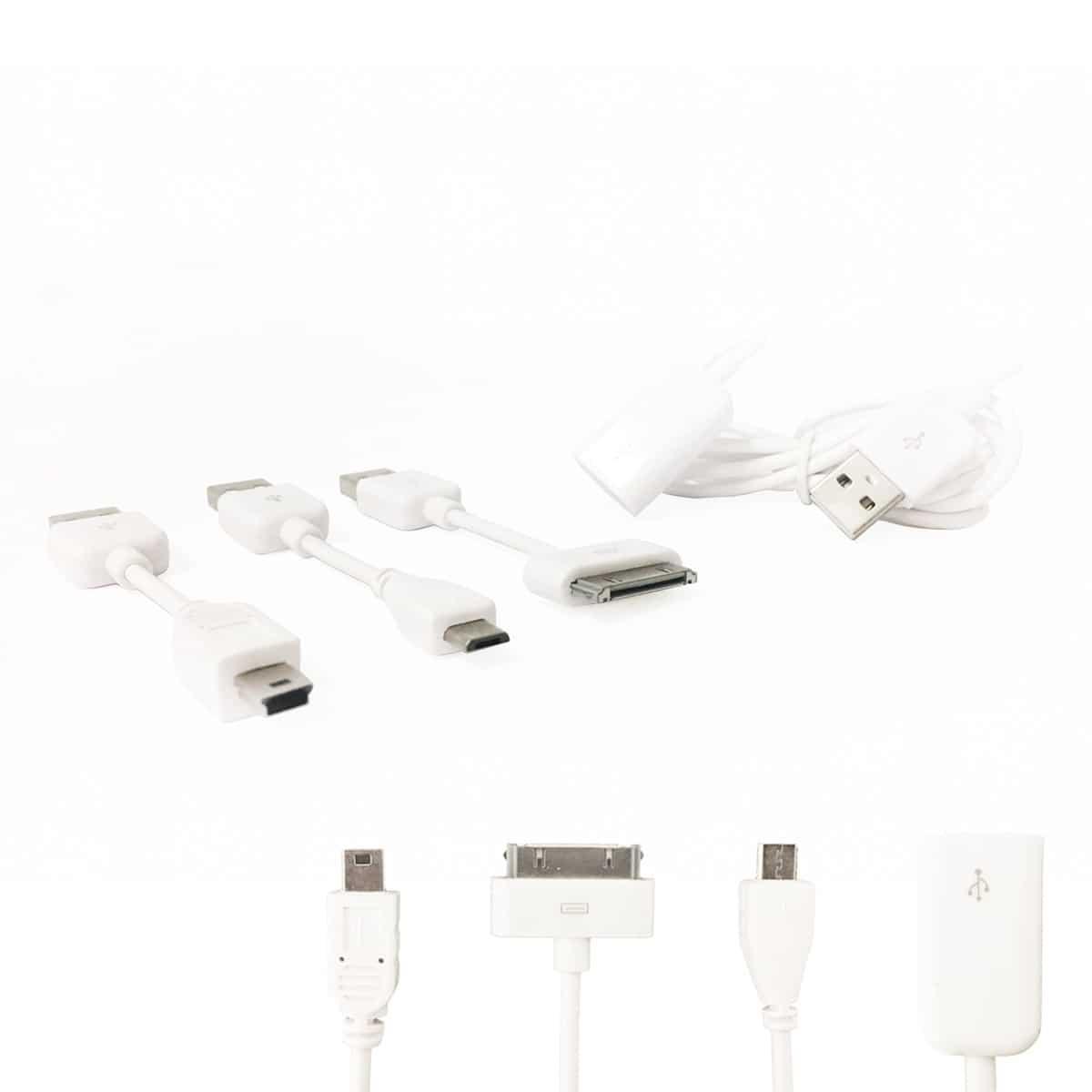 Multi Kabel sæt til smartphone, tablet & computer