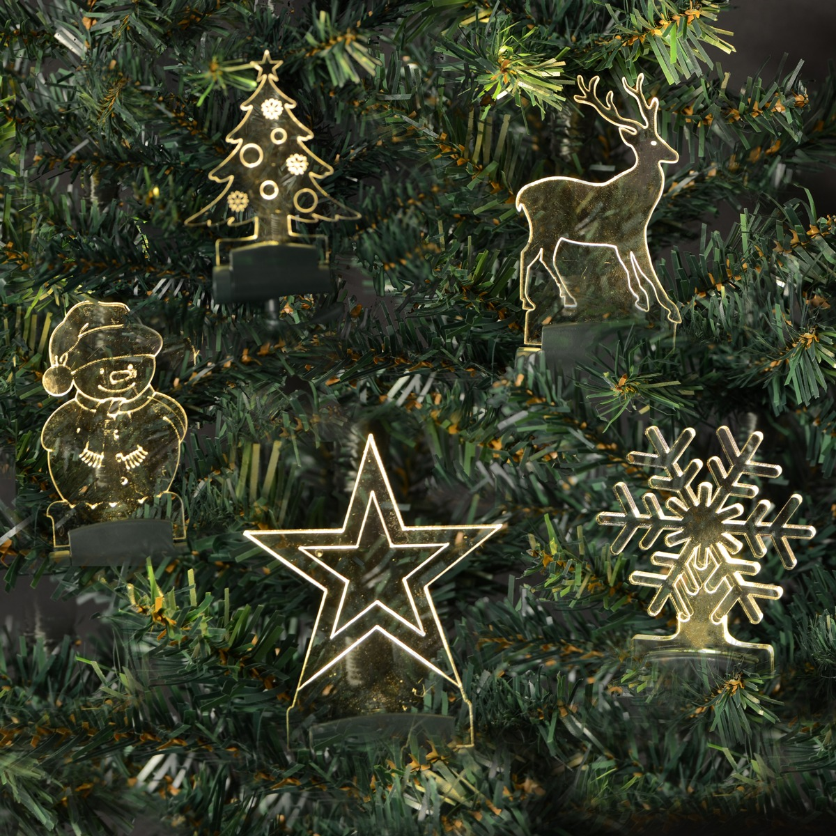 Trådløs juletræslys med Motiver og fjernbetjening