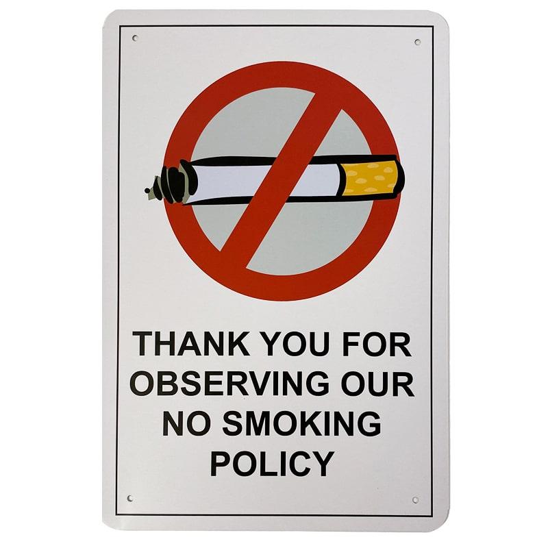 Metalskilt - No Smoking