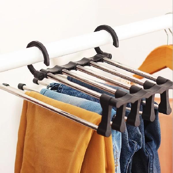 Billede af Buksebøjle til 5 par bukser - spar plads i klædeskabet