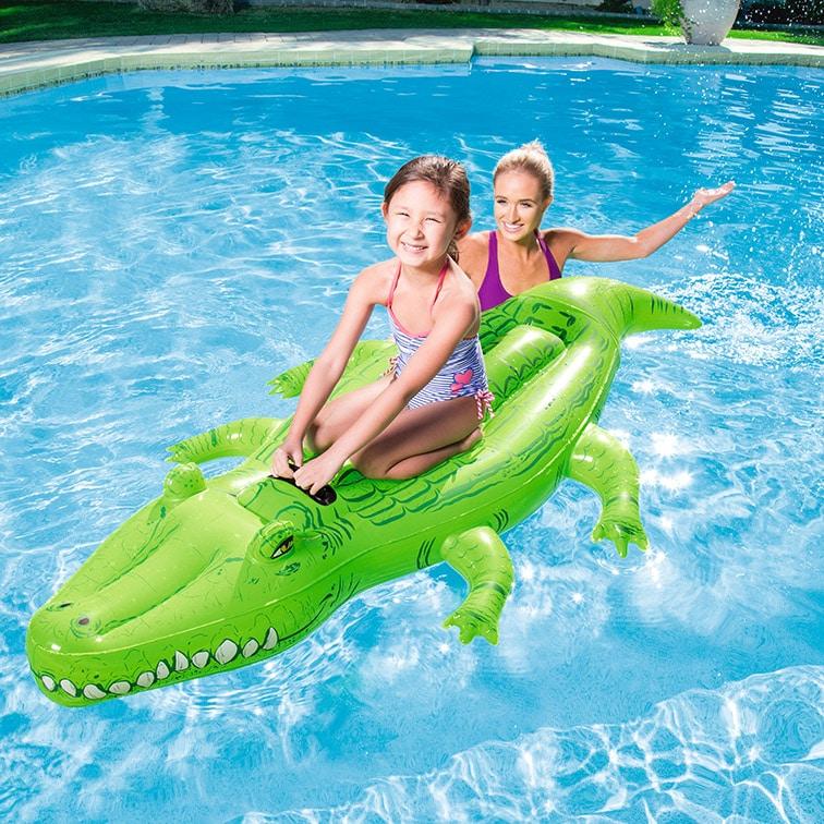 Oppustelig krokodille badedyr fra Bestway®