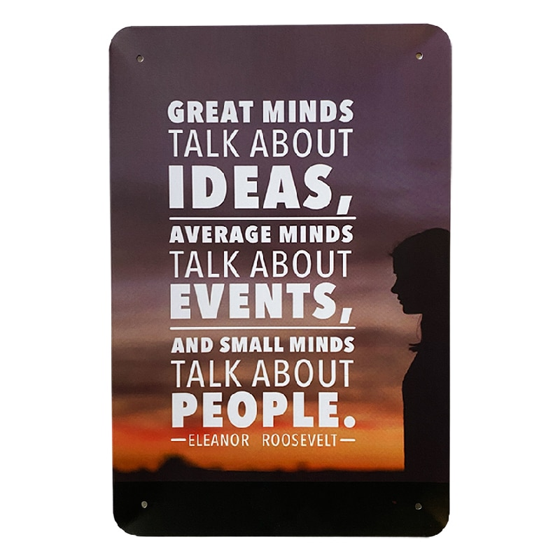 Metalskilt - Great Minds