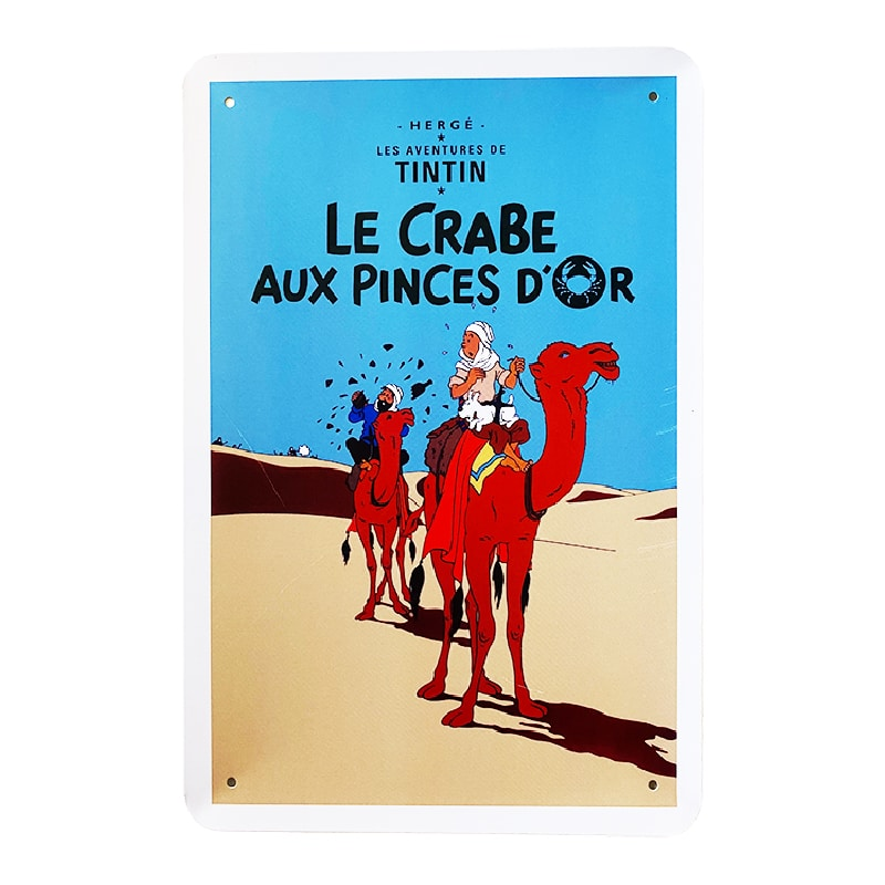 Metalskilt - TinTin Le Crabe