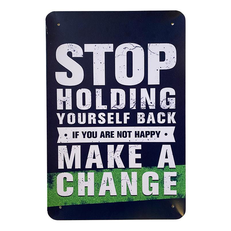 Metalskilt - Stop Holding