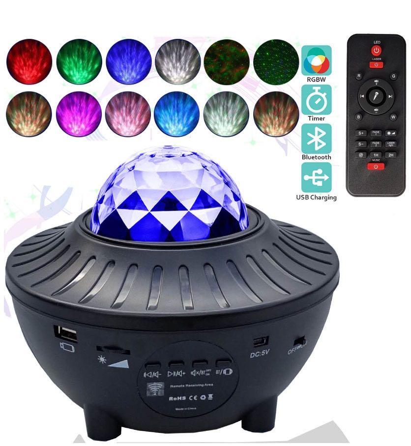 Stjernehimmel LED Projektor m/Bluetooth Højttaler inkl. Fjernbetjening
