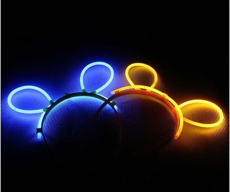 Hårbånd m/Ører -Selvlysende glow stick