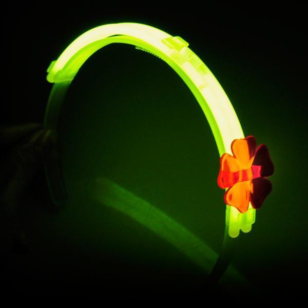 Hårbånd m/blomst - Selvlysende glow stick