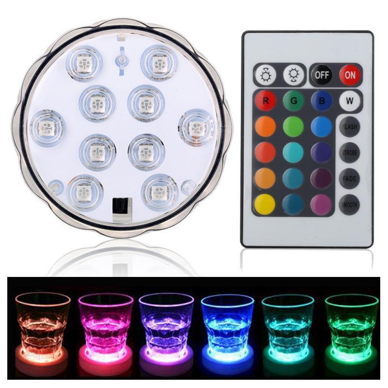 LED lys m/16 forskellige farver (vandtæt) inkl. fjernbetjening