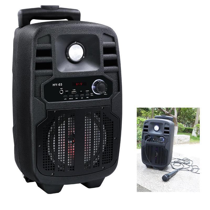 Transportabel bluetooth højttaler med mikrofon