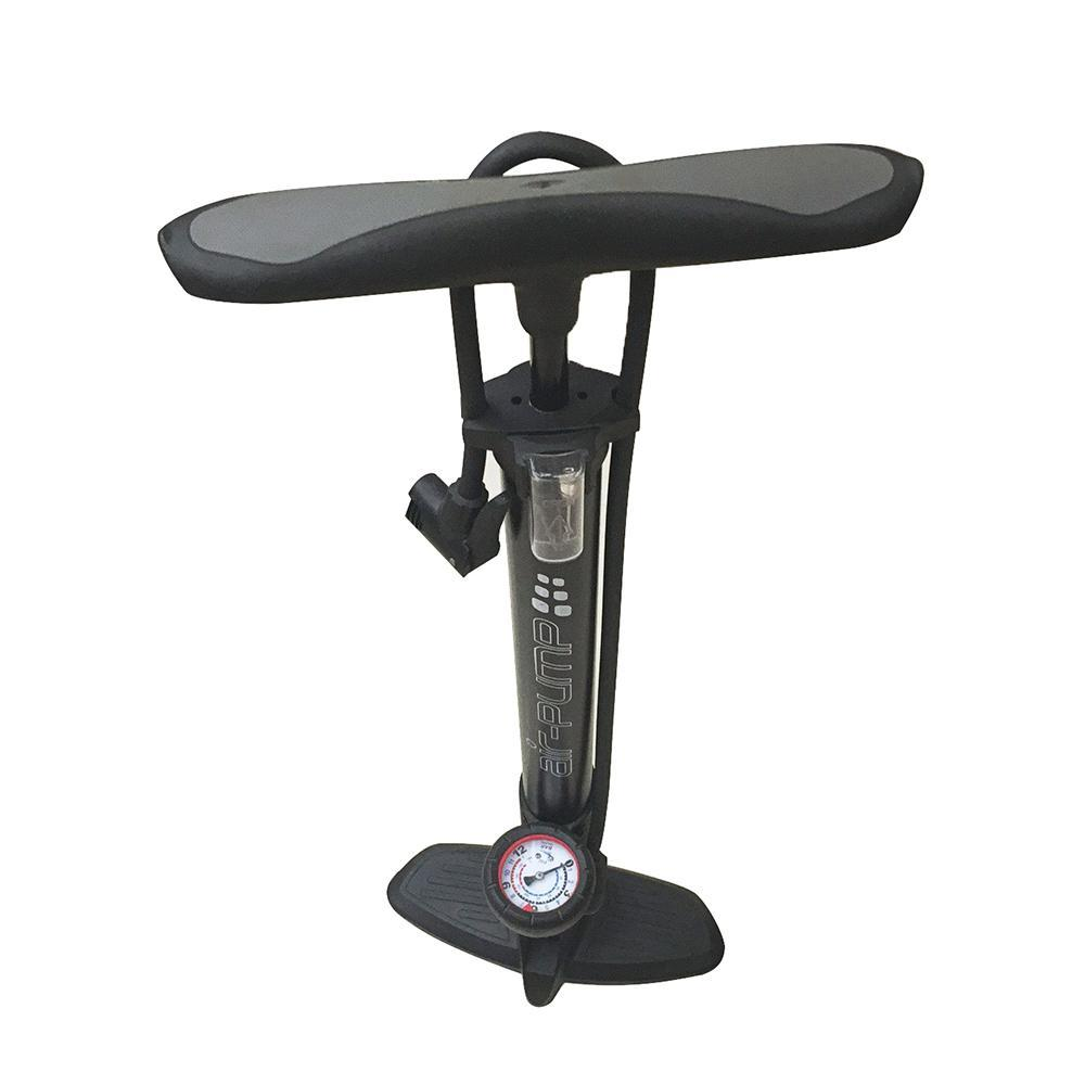 Cykelpumpe 8 bar/120 PSI m/manometer (fodpumpe)