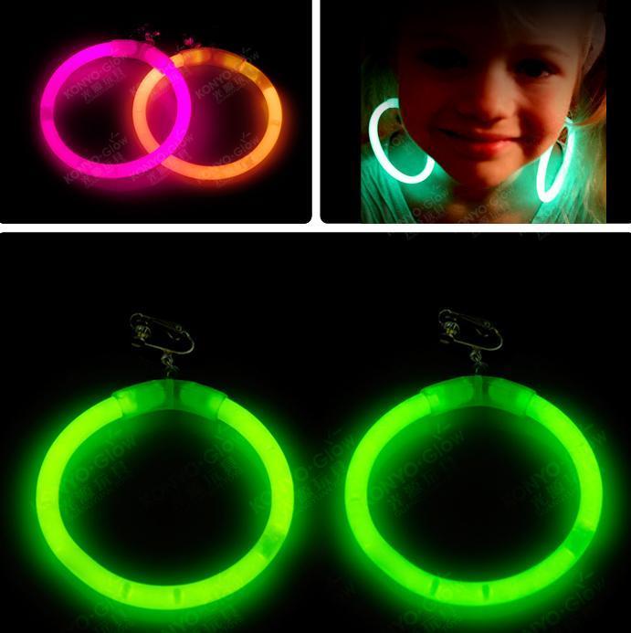 Øreringe - Selvlysende glow stick