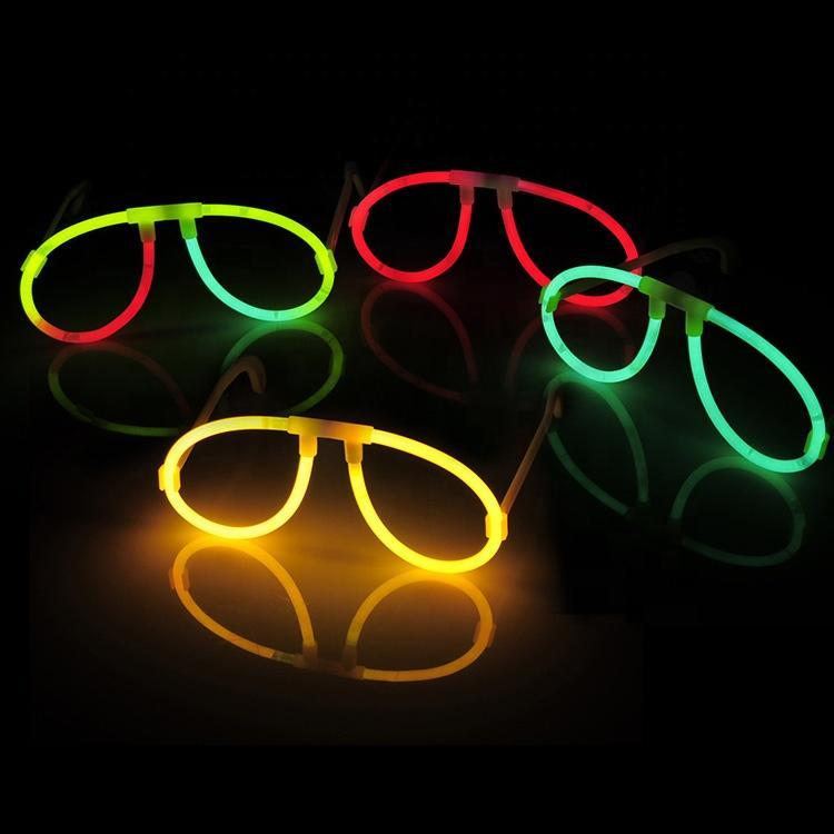 Runde Briller - Selvlysende glow stick